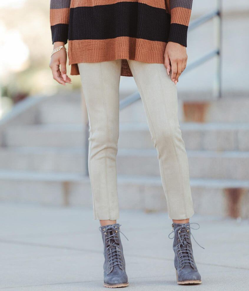 Shinestar Faux Suede Legging front view