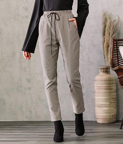 Shinestar Houndstooth Jogger Stretch Pant