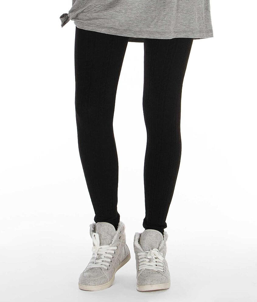 ShoSho Fashion Fleece Lined Legging front view