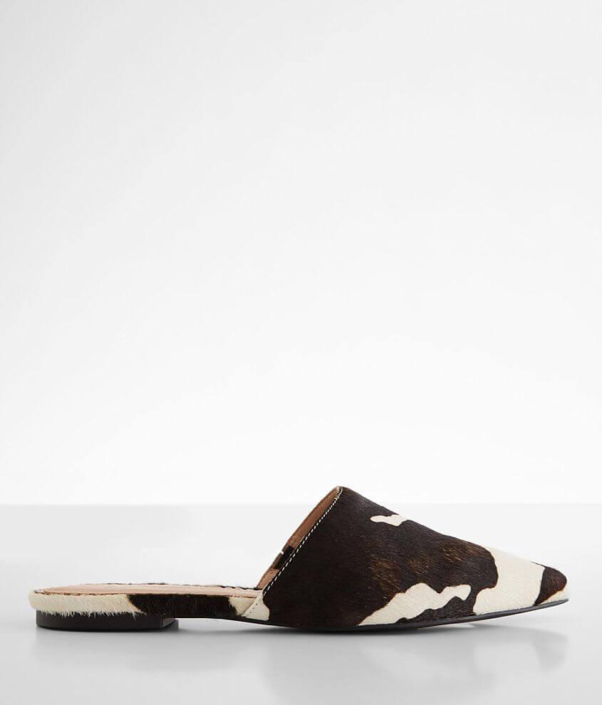 Faux fur slip-on shoe Elasticized inset Lightly cushioned footbed