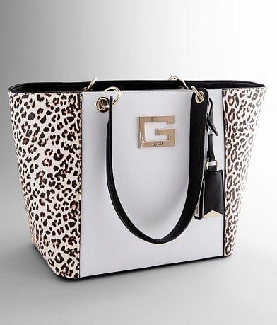 Guess Kamyrn Leopard Shopper Purse