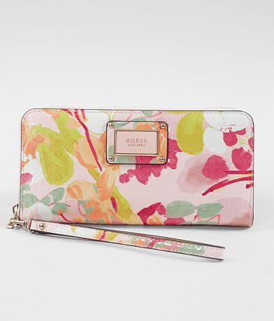 Guess Shannon Floral Wristlet Wallet