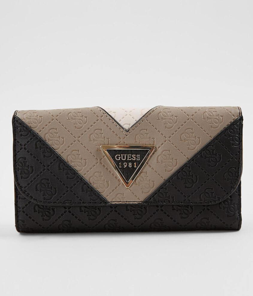Guess Lyra Wallet - Women s Accessories in Black Multi  33a2ee0c9f