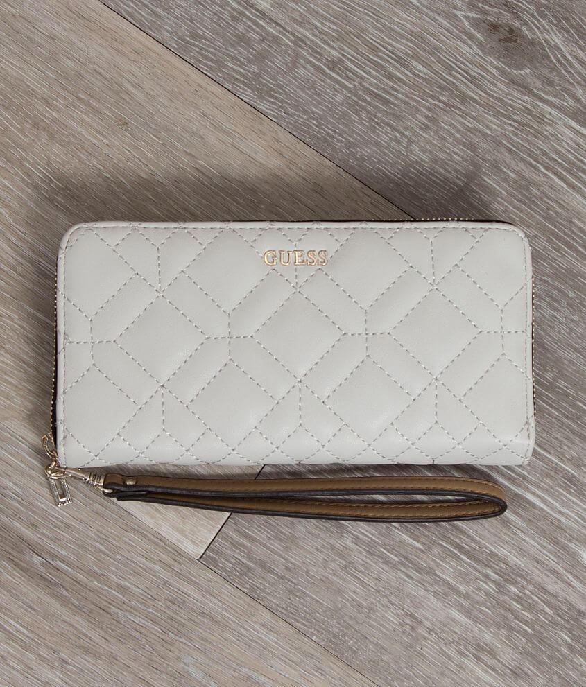 Guess Ines Wallet Women's Accessories in Chalk Multi | Buckle