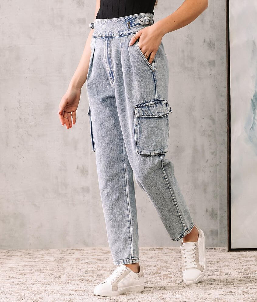 Signature 8 Ultra High Ankle Straight Cargo Jean front view