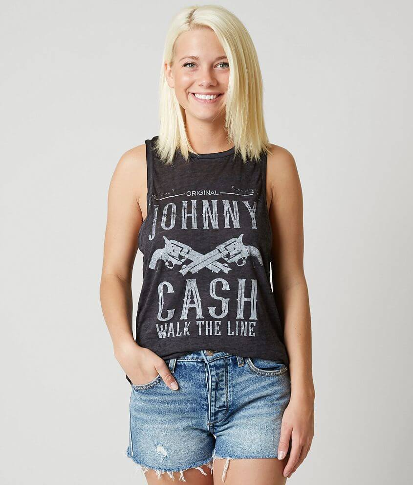dae29853 Project Karma Johnny Cash Tank Top - Women's Tank Tops in Vintage ...