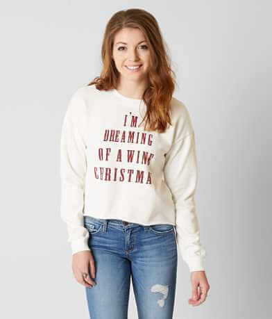 Project Karma Wine Christmas Sweatshirt