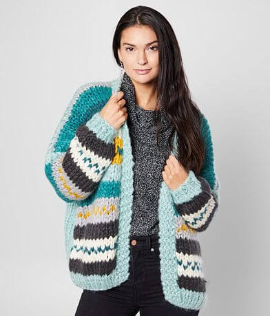 Simply Couture Chunky Knit Cardigan Sweater
