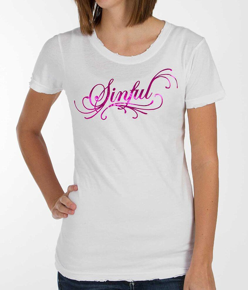 Sinful Sophia Wings T-Shirt front view