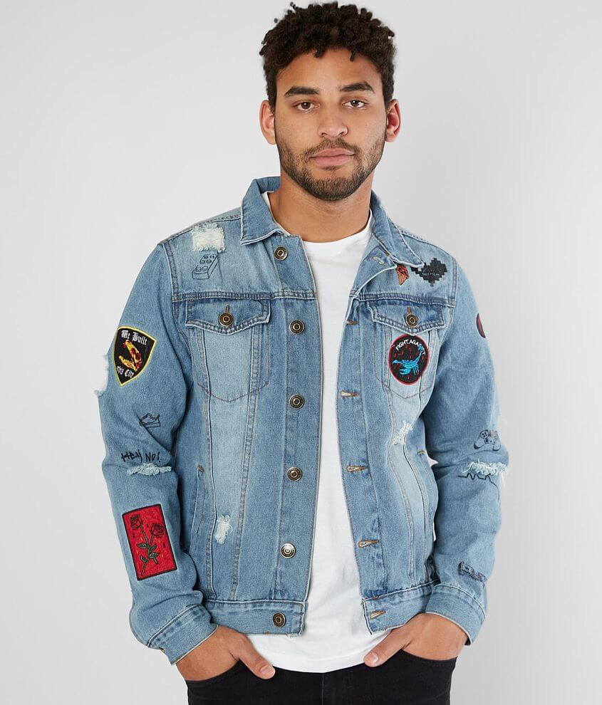 bf80a4f56 Rebel Star Patch Denim Jacket - Men's Coats/Jackets in Nathan Wash ...