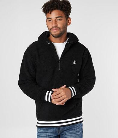 Rebel Star Half Zip Sherpa Hooded Sweatshirt