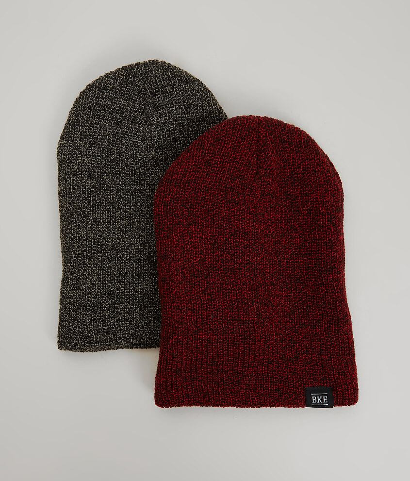 BKE Brock Two Pack Beanies front view