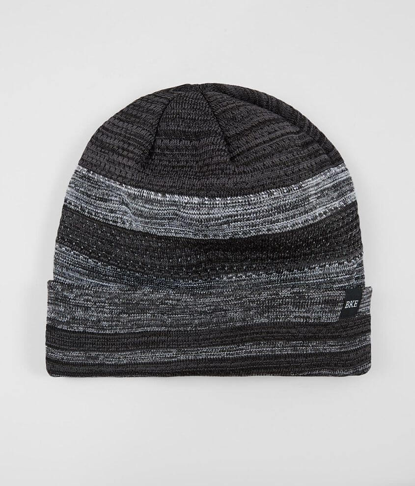 BKE Perforated Stripe Beanie front view