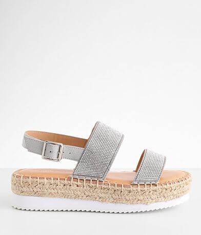 Madden Girl Boardwalk Rhinestone Flatform Sandal