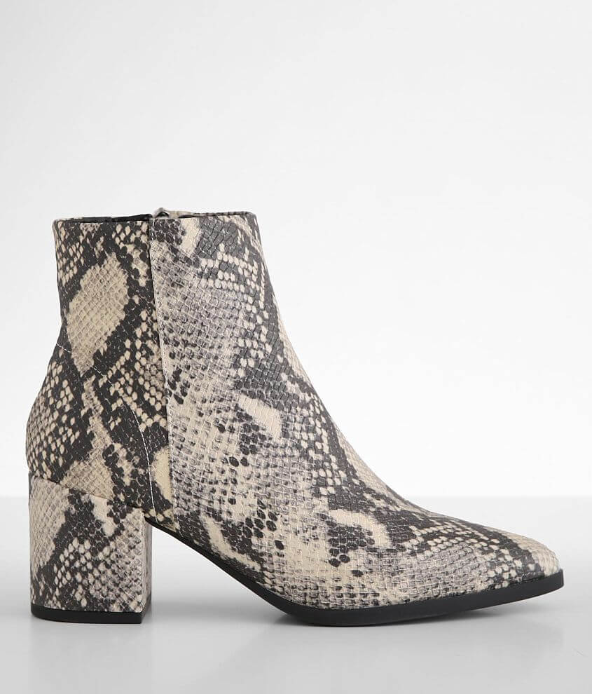 Madden Girl Dafnii Snake Print Ankle Boot front view