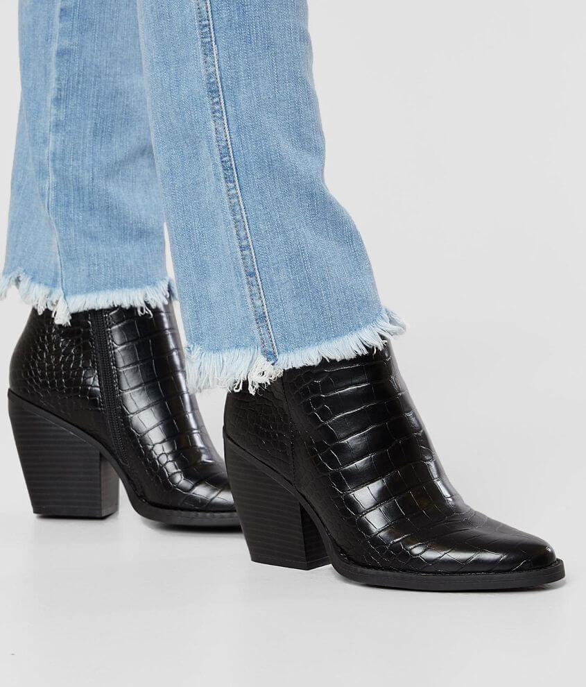 Madden Girl Klicck Snakeskin Ankle Boot front view