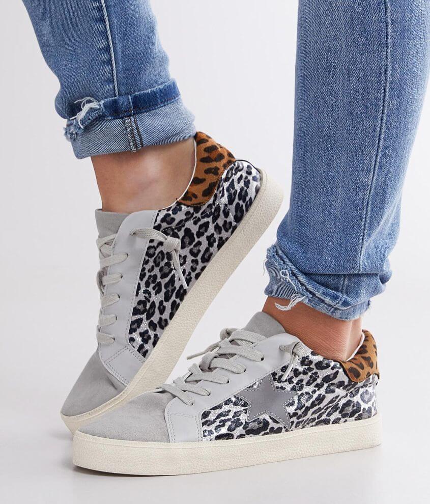 Madden Girl Larrk Foiled Leopard Print Sneaker front view