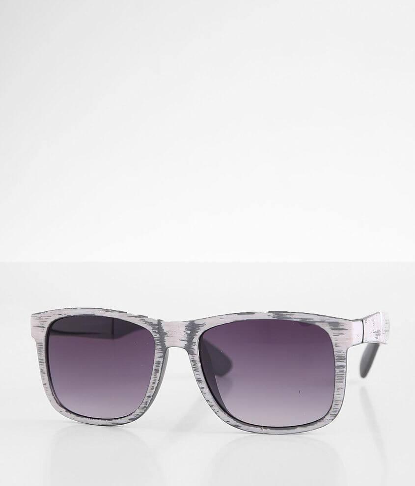 BKE Faux Woodgrain Sunglasses front view