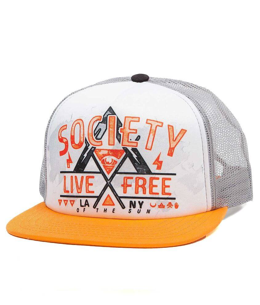 Society Khan Trucker Hat front view