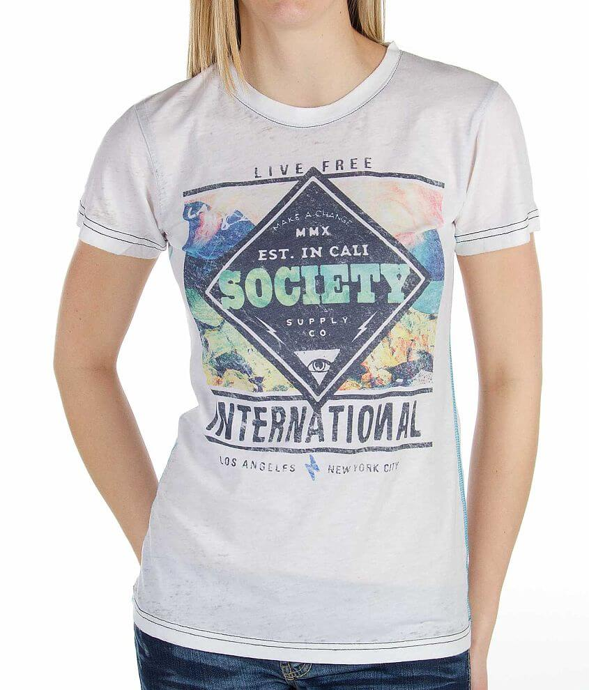 Society Reach Out T-Shirt front view