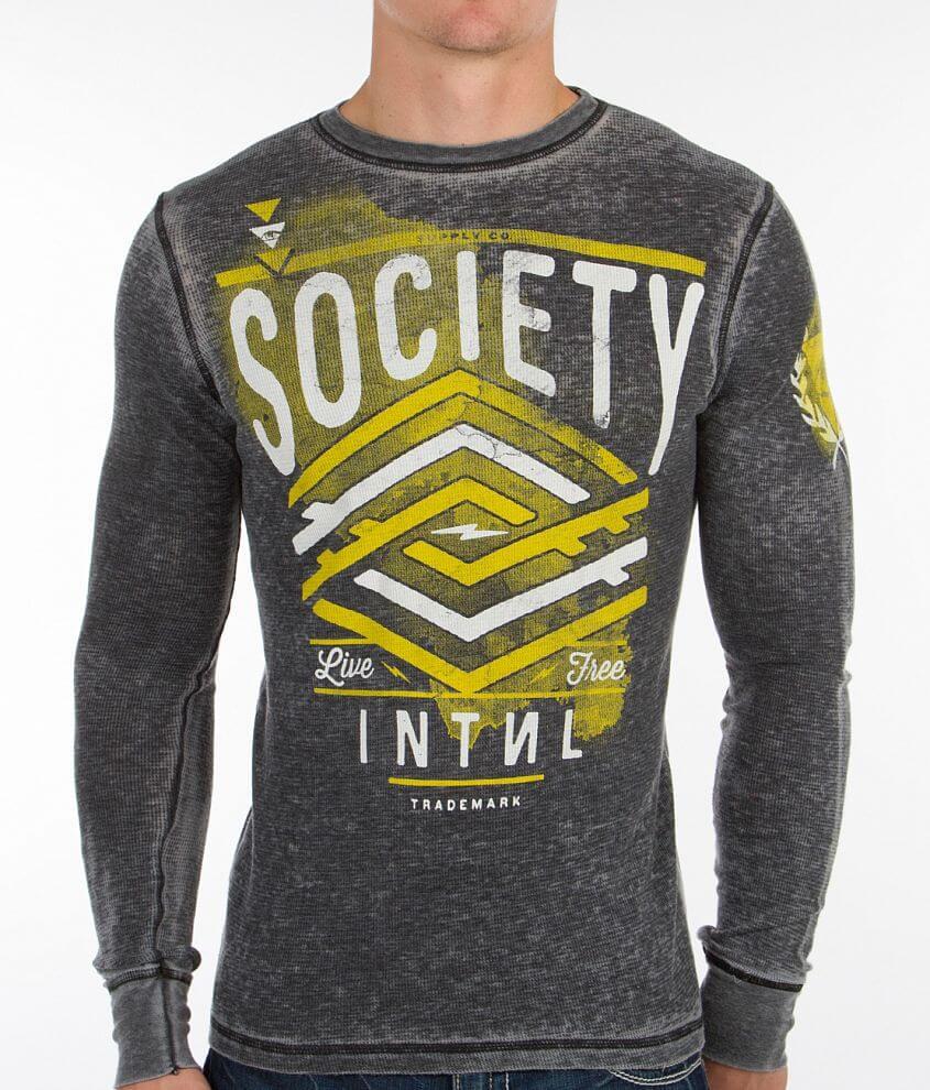 Society Racks Thermal Shirt front view