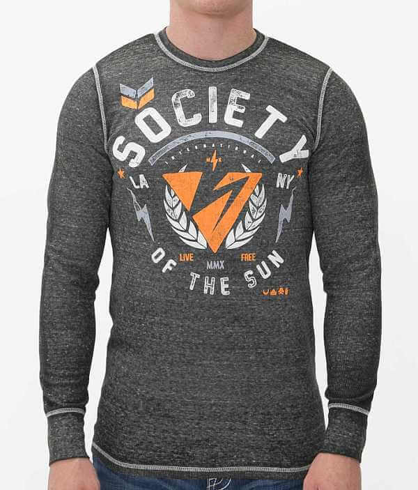 Society Thrown Thermal Thrown Thermal Shirt Society rSzqBPOrxw