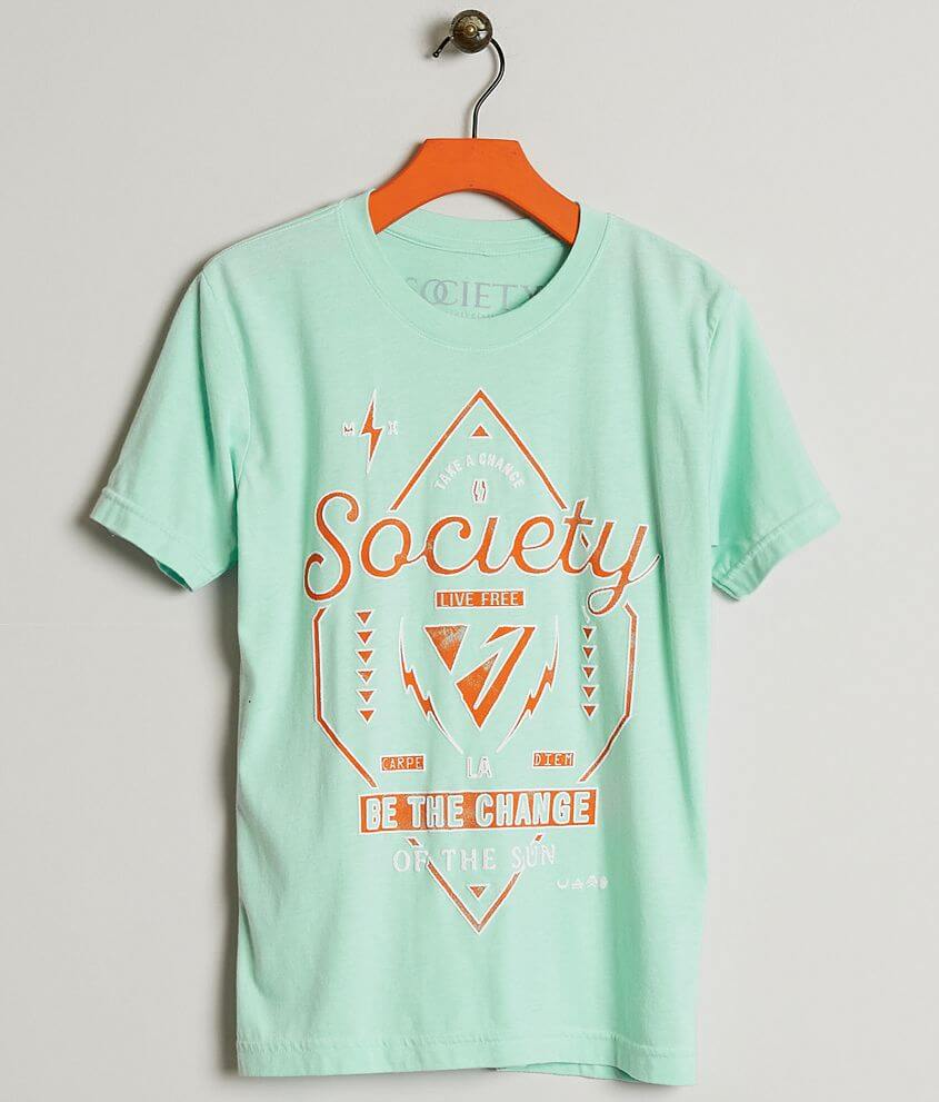 Boys Society Flipping T Shirt Boys T Shirts In Mint Buckle