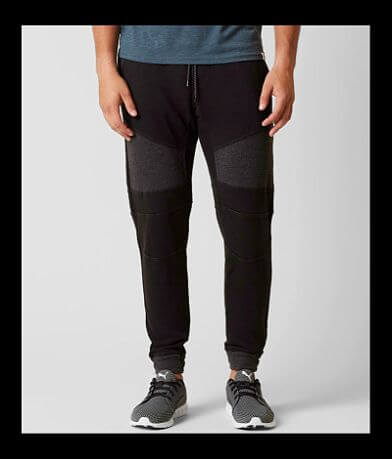 NITROUS BLACK Textured Sweatpant