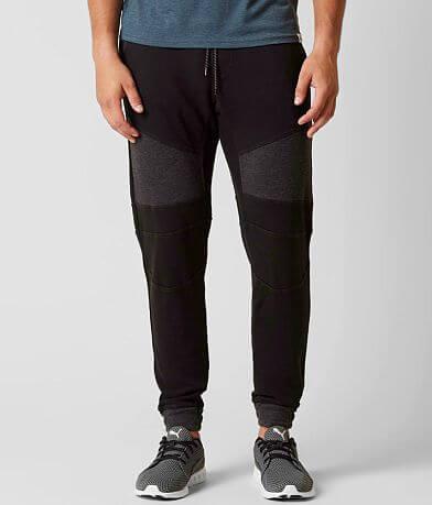 NITROUS BLACK Textured Sweatpant