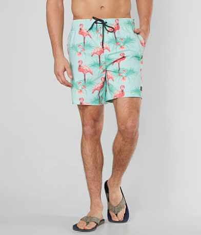 NITROUS BLACK Flamingo Anchor Boardshort