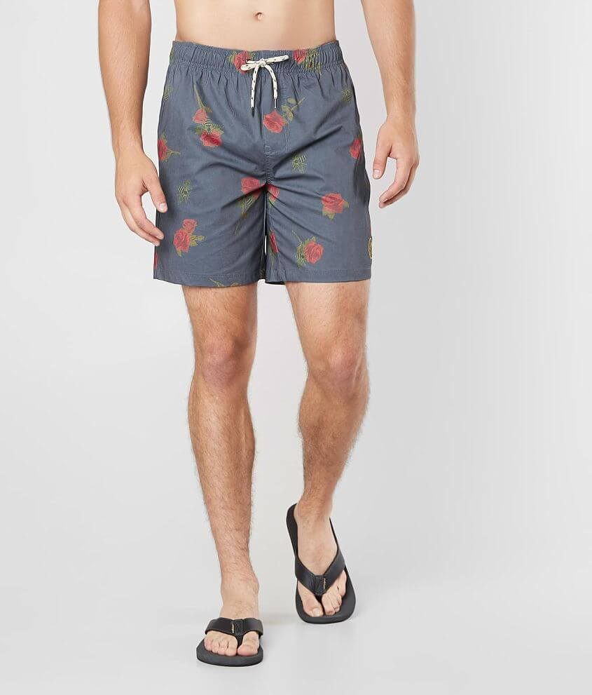 NITROUS BLACK Cool Buzz Stretch Boardshort front view