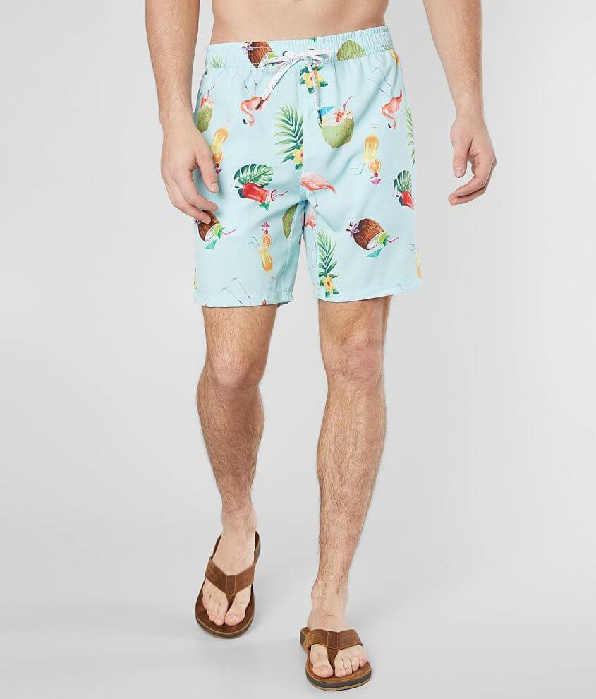 Departwest Cocktail Party Stretch Boardshort front view