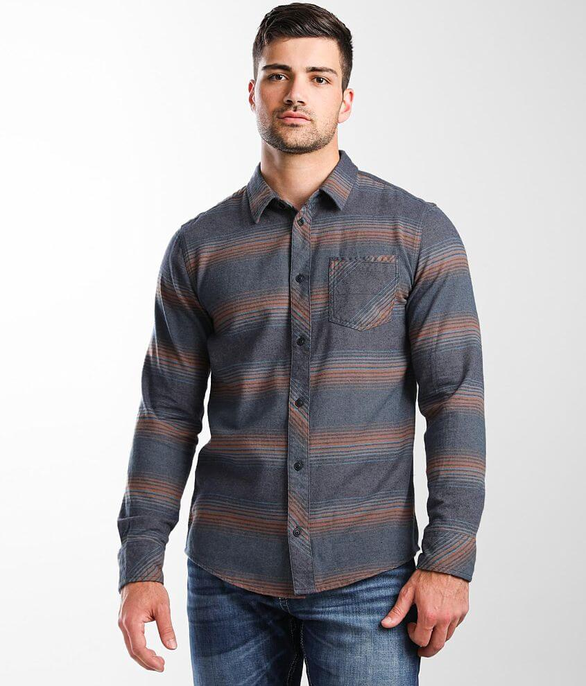 Departwest Striped Flannel Shirt front view