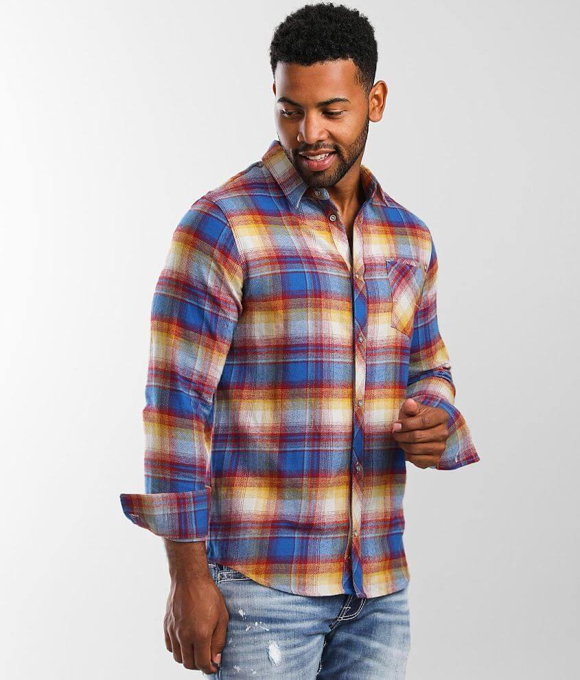 Departwest Plaid Flannel Shirt front view