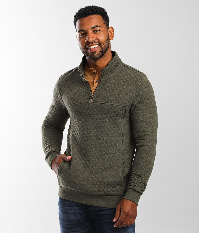 Outpost Makers Arturo Quilted Pullover front view