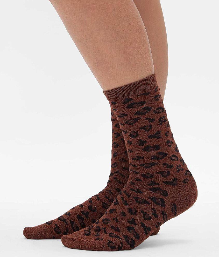 Daytrip Leopard Print Socks front view