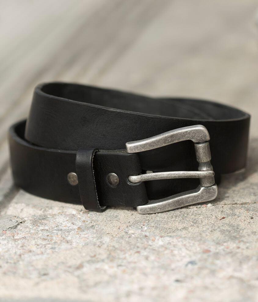 Bill Adler Classic Vintage Leather Belt front view
