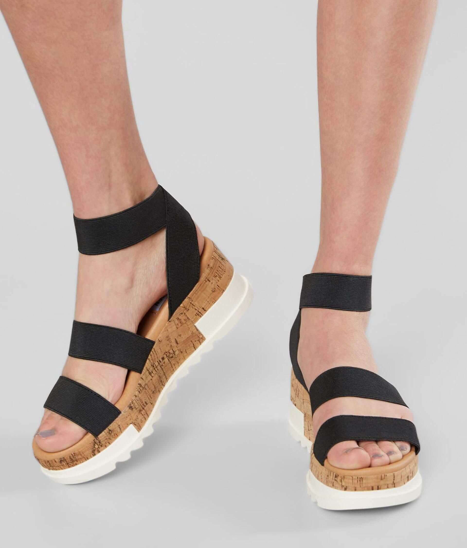 e65c002131b Steve Madden Bandi Flatform Sandal - Women's Shoes in Black   Buckle