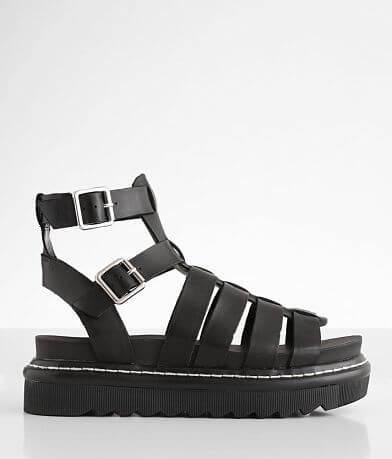 Steve Madden Benefit High Ankle Leather Sandal
