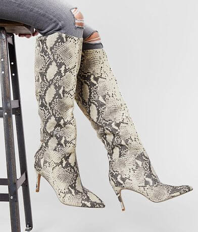 Steve Madden Kimari Snake Print Heeled Boot