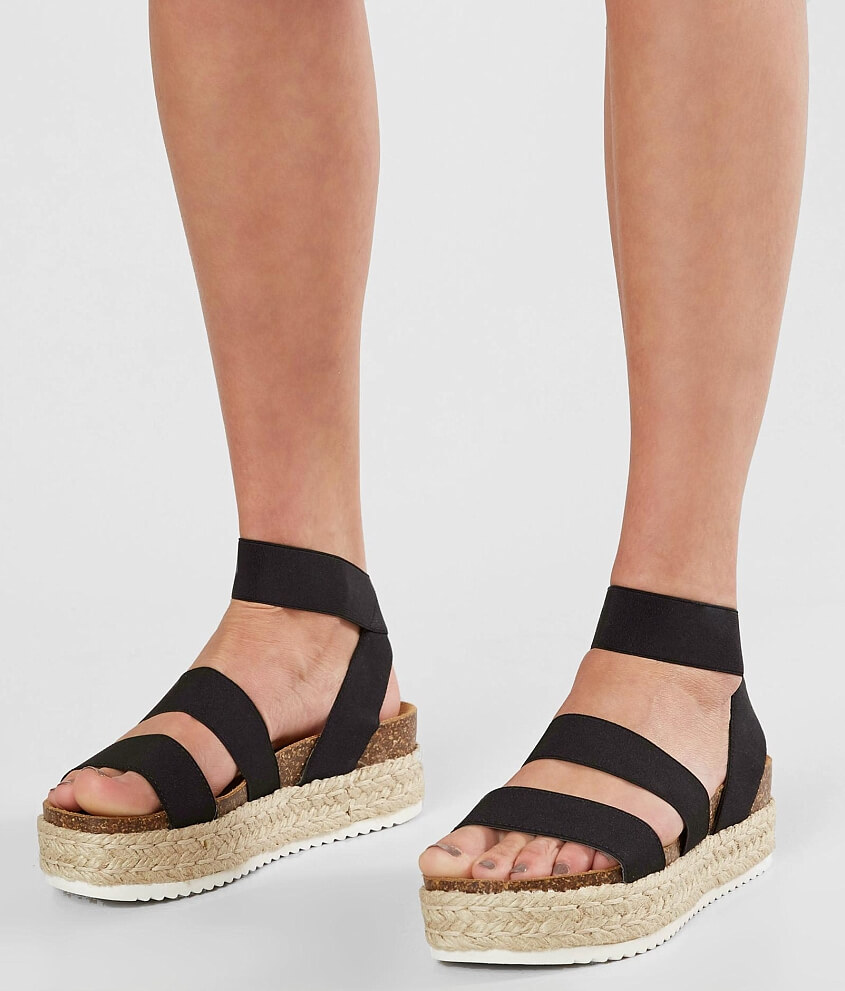 popular for sale clearance ebay Black 'Kimmiee' flatform sandals huge surprise buy cheap wiki 4f3my