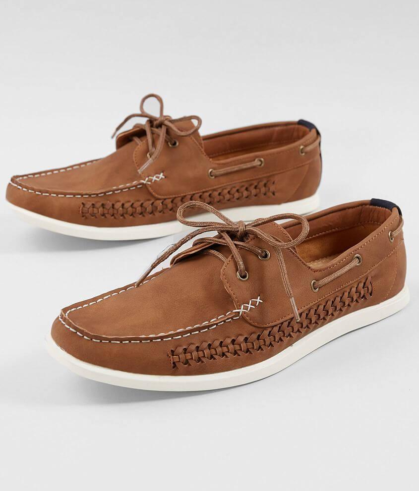 5e9f90fe3fe Steve Madden M-Prince Leather Boat Shoe - Men's Shoes in Cognac | Buckle