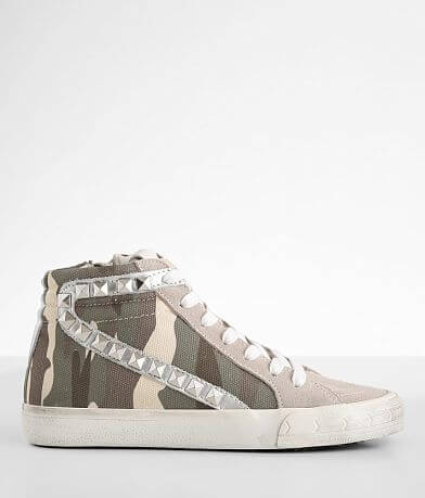 Steve Madden Tracey Camo Suede High Top Sneaker
