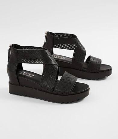 Steven Klein Leather Wedge Sandal