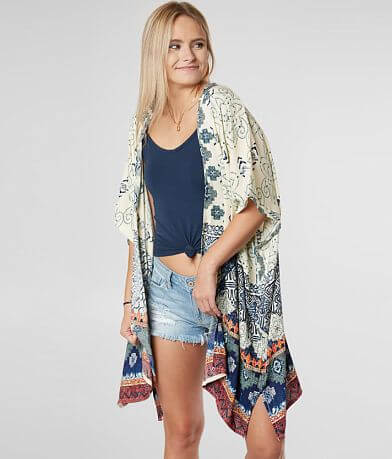 Angie All-Over Print Kimono