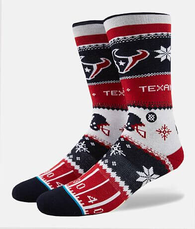Stance Houston Texans Holiday Sweater Socks