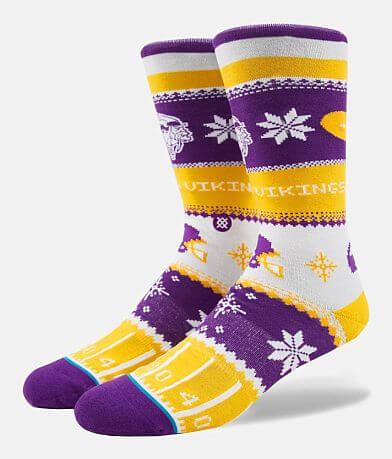 Stance Minnesota Vikings Holiday Sweater Socks