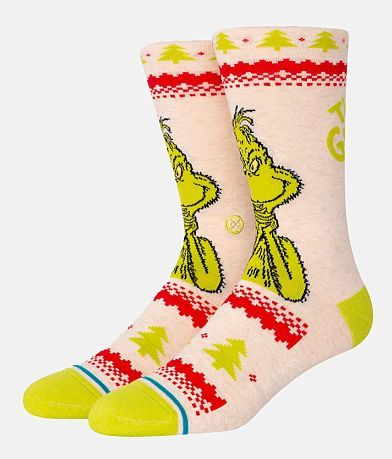 Stance Grinch Sweater Socks