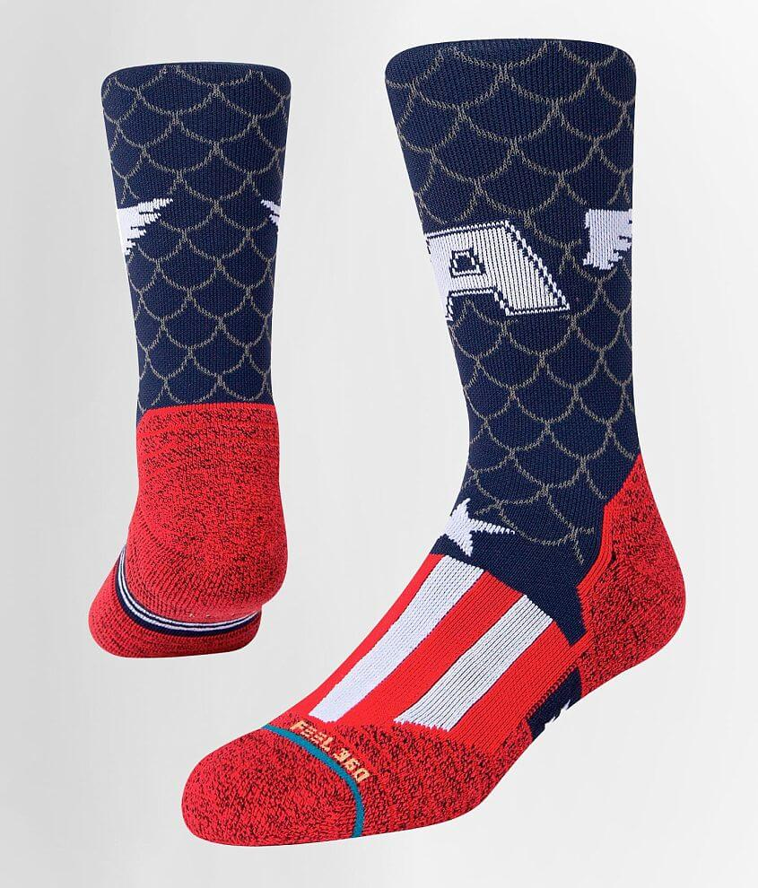 Stance Captain America INFIKNIT™ Socks front view
