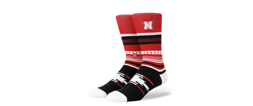 Stance Nebraska Cornhuskers Socks front view